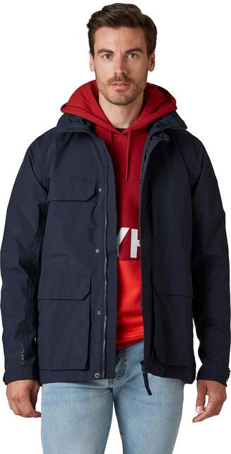 Navy blue puffer rain jacket